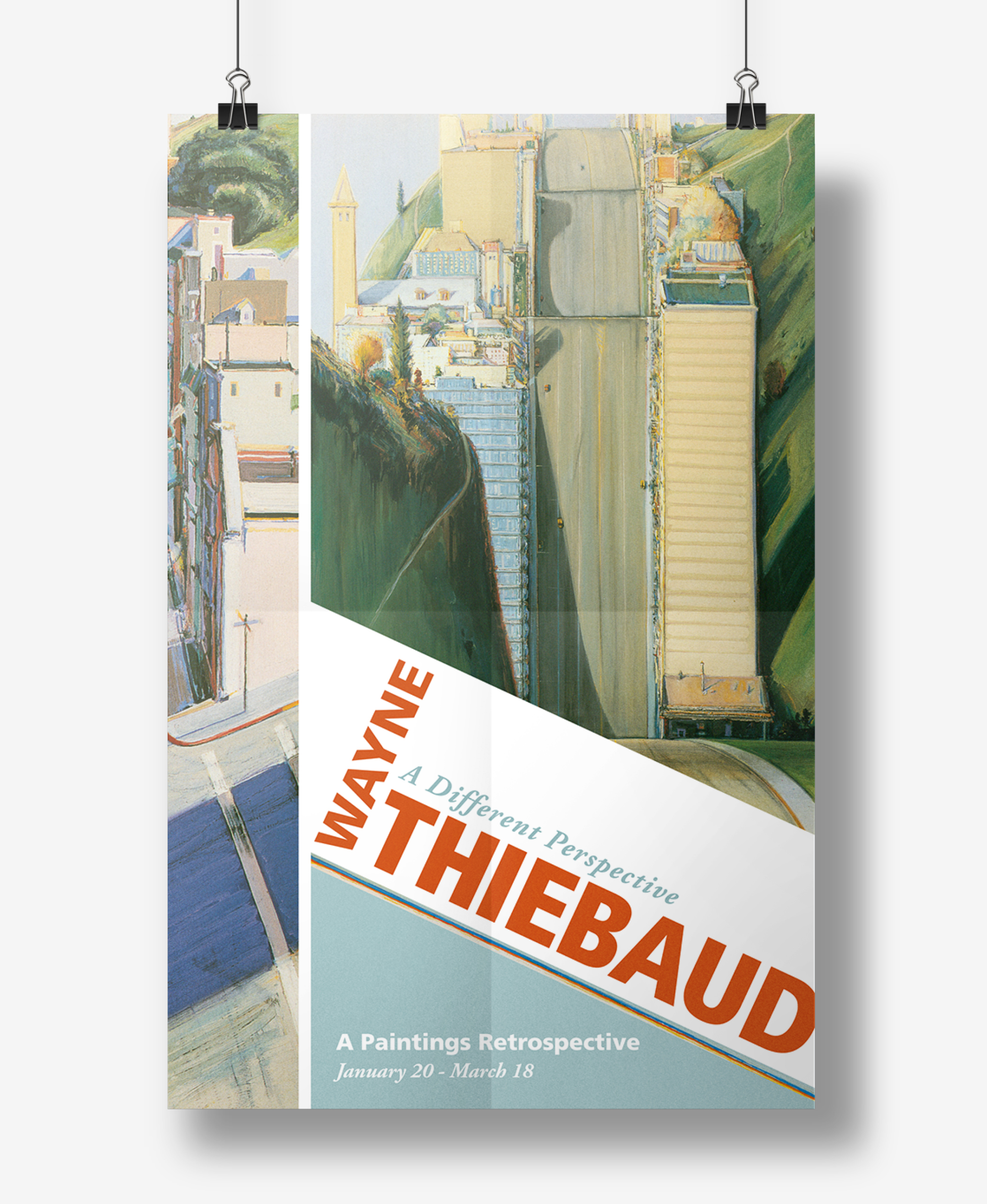 Thiebaud exhibit poster, Graphic Design, Jessica Oviedo