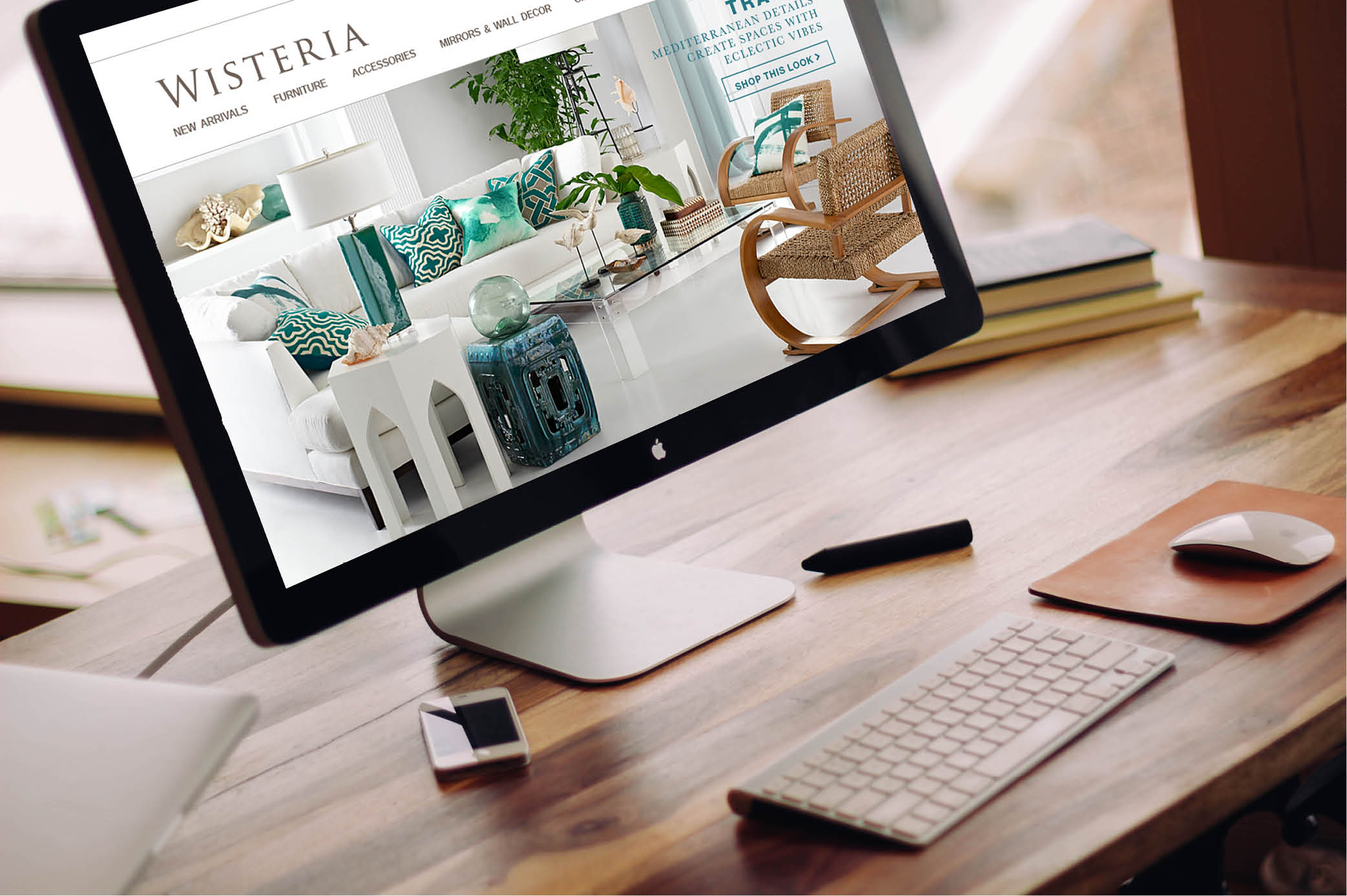 Wisteria Home Furnishings & Decor, Web Design, Jessica Oviedo
