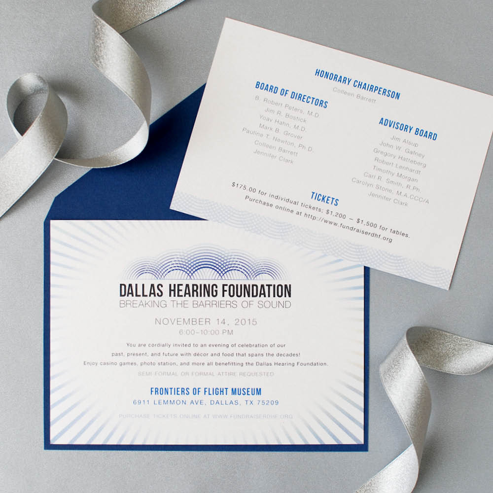 Dallas Hearing Foundation Gala, Graphic Design, Jessica Oviedo