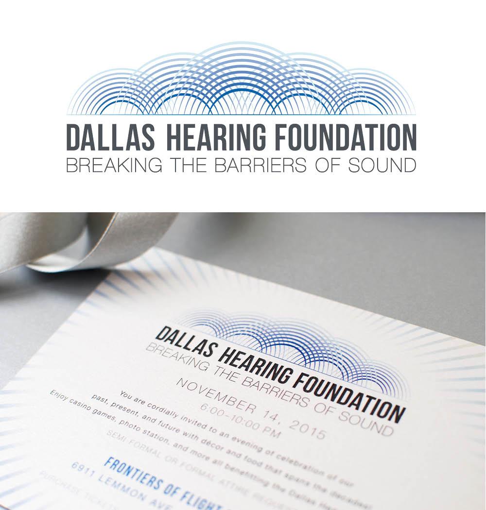 Dallas Hearing Foundation Gala, Graphic Design, Jessica Oviedo