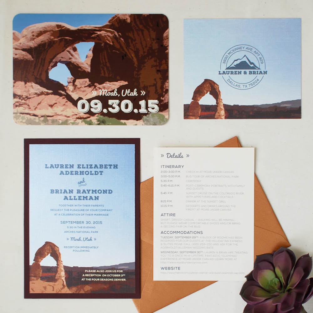 Moab & Denver Destination Wedding Suite, Graphic Design, Jessica Oviedo