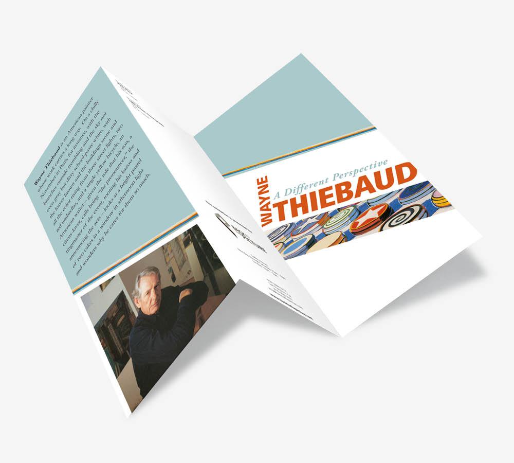 Thiebaud exhibit brochure, Graphic Design, Jessica Oviedo